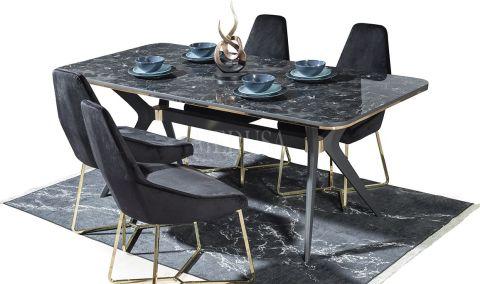 Medusa Home - Arwen Antrasit Yemek Masası