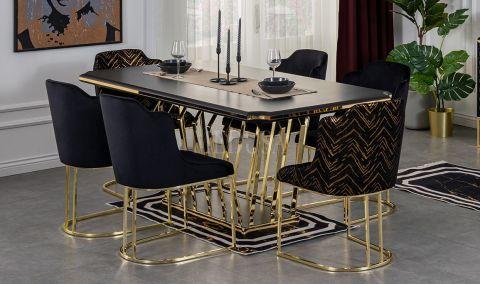 Medusa Home - Aspendos Black Yemek Masası