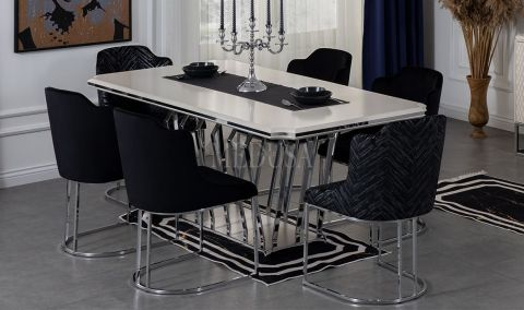 Medusa Home - Aspendos White Yemek Masası