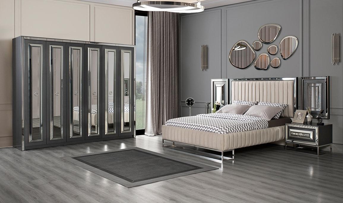 Belinda Antrasit Yatak Odası