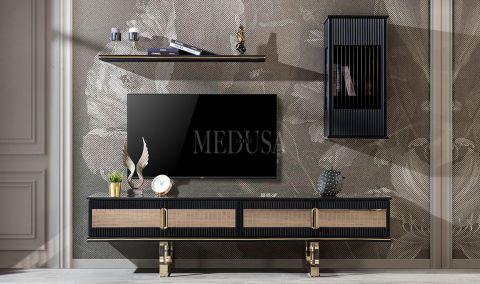 Medusa Home - Burberry Black Tv Ünitesi