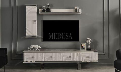 Medusa Home - Clara Beyaz Tv Ünitesi