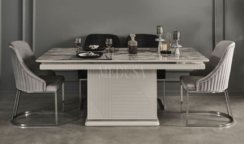 Medusa Home - Clara Beyaz Yemek Masası