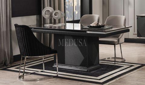 Medusa Home - Clara Siyah Yemek Masası