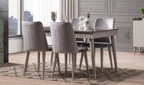 Medusa Home - Daisy Gri Yemek Masası