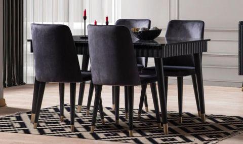 Medusa Home - Daisy Siyah Yemek Masası