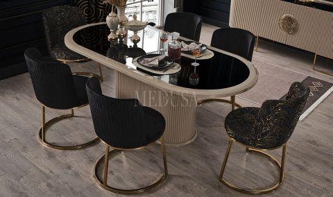 Medusa Home - Guard Krem Yemek Masası