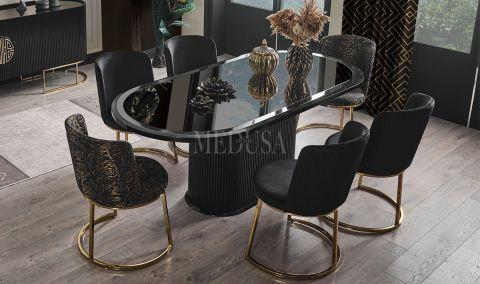 Medusa Home - Guard Siyah Yemek Masası