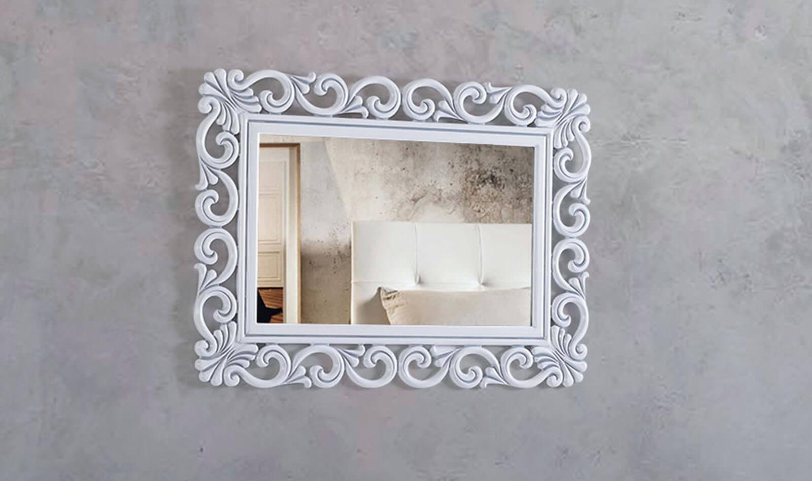Lilyum Beyaz Gümüş Ayna