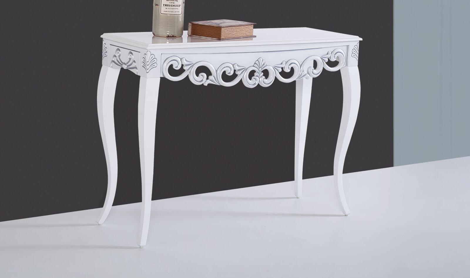Lilyum Beyaz Gümüş Dresuar