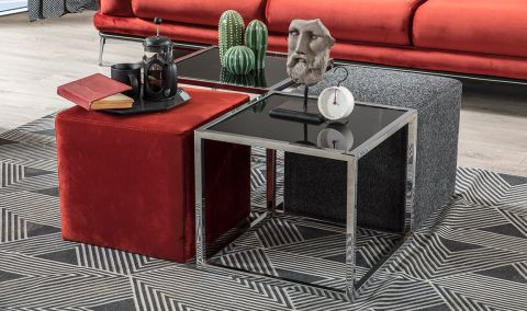 Medusa Home - Long Metal Orta Sehpa