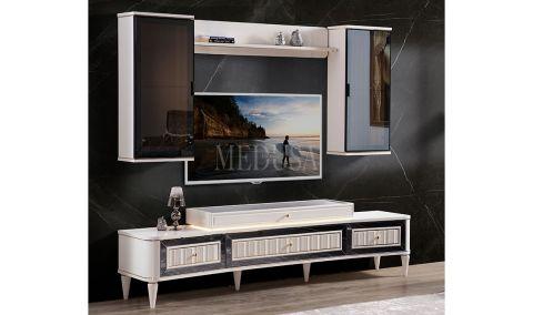 Medusa Home - Luxury Beyaz Tv Ünitesi