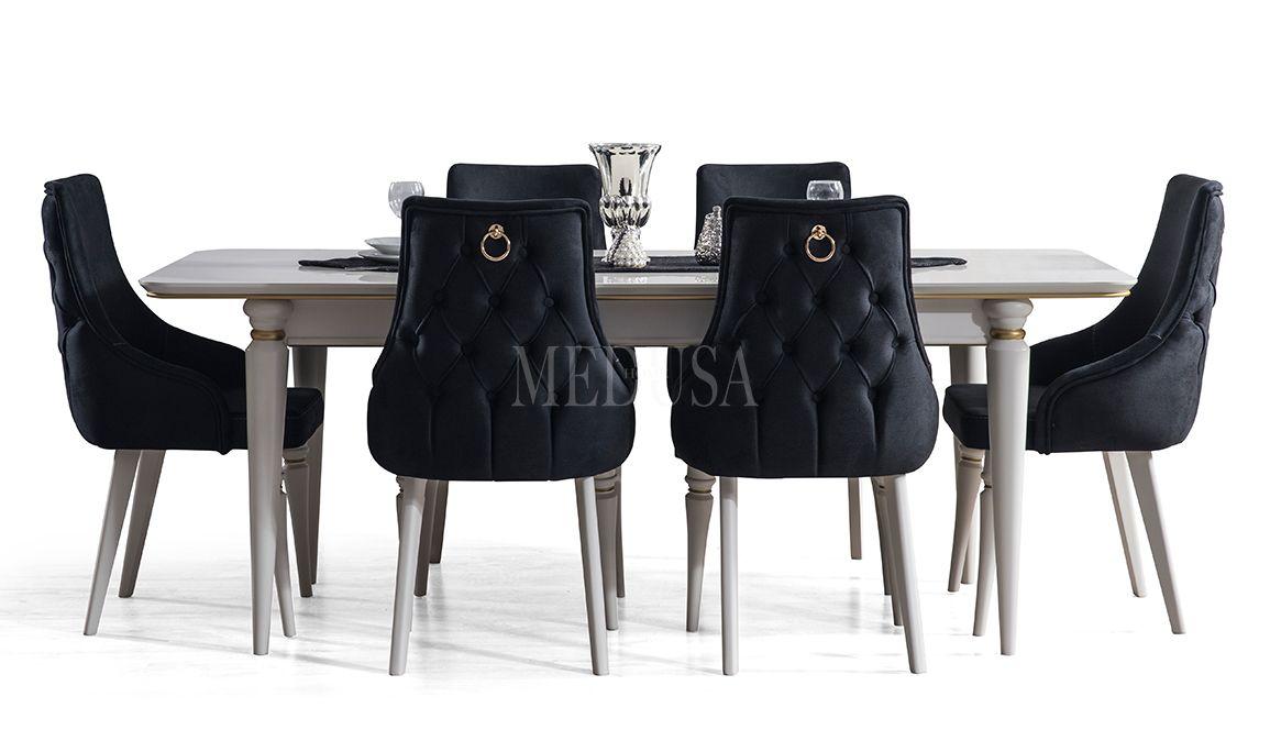 Luxury Beyaz Yemek Masası