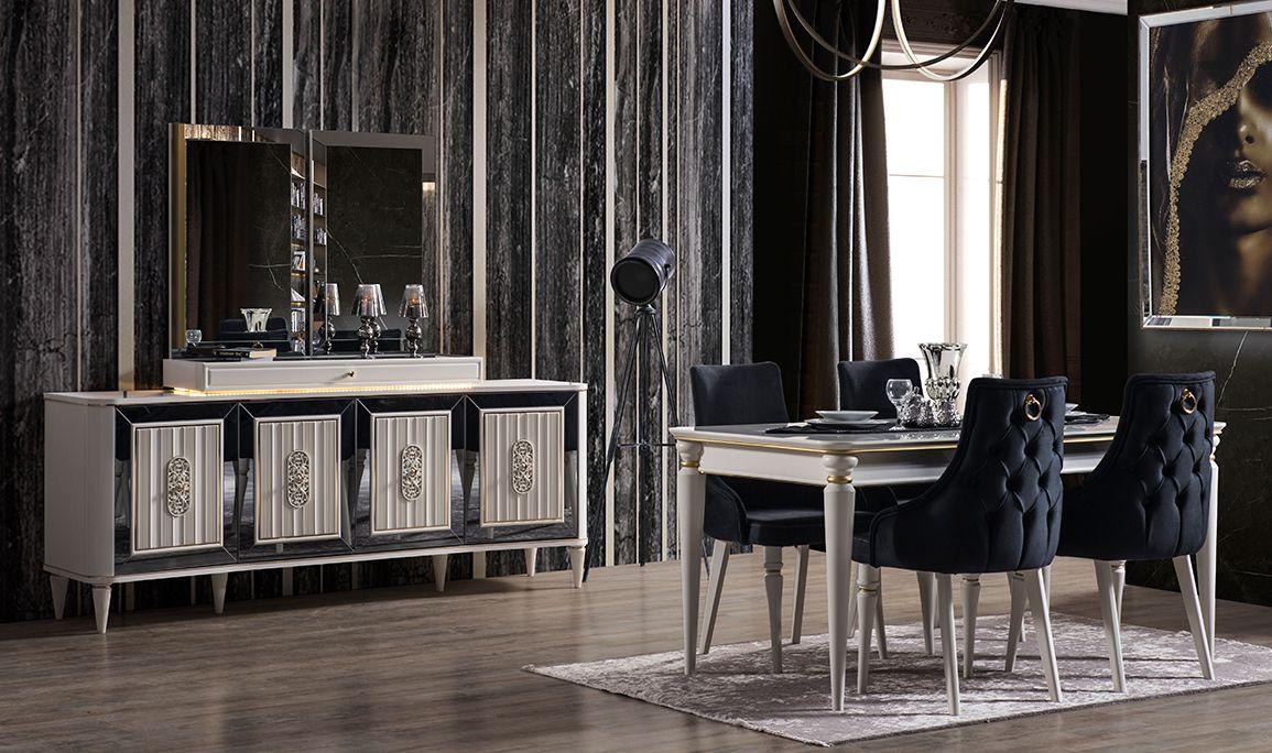 Luxury Beyaz Yemek Odası
