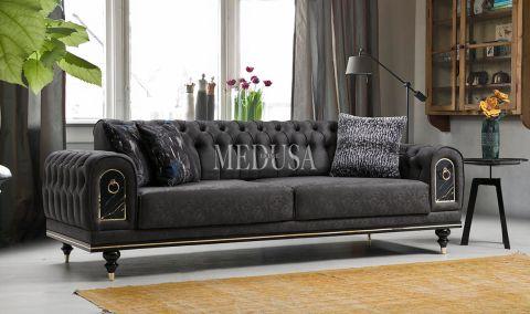 Medusa Home - Nişantaşı Üçlü Koltuk Antrasit