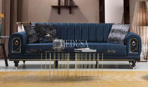 Medusa Home - Nişantaşı Üçlü Koltuk Mavi