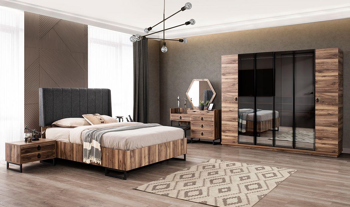 Nutrisha Ceviz Yatak Odası