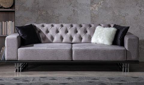 Medusa Home - Plenty Design Üçlü Koltuk Gri