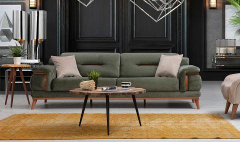 Medusa Home - Poyraz Üçlü Koltuk Yeşil