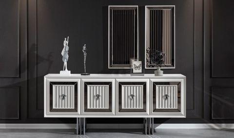 Medusa Home - Roma Beyaz Luxury Konsol