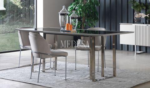 Medusa Home - Silver Yemek Masası