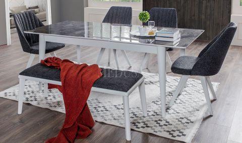 Medusa Home - Star Beyaz Yemek Masası