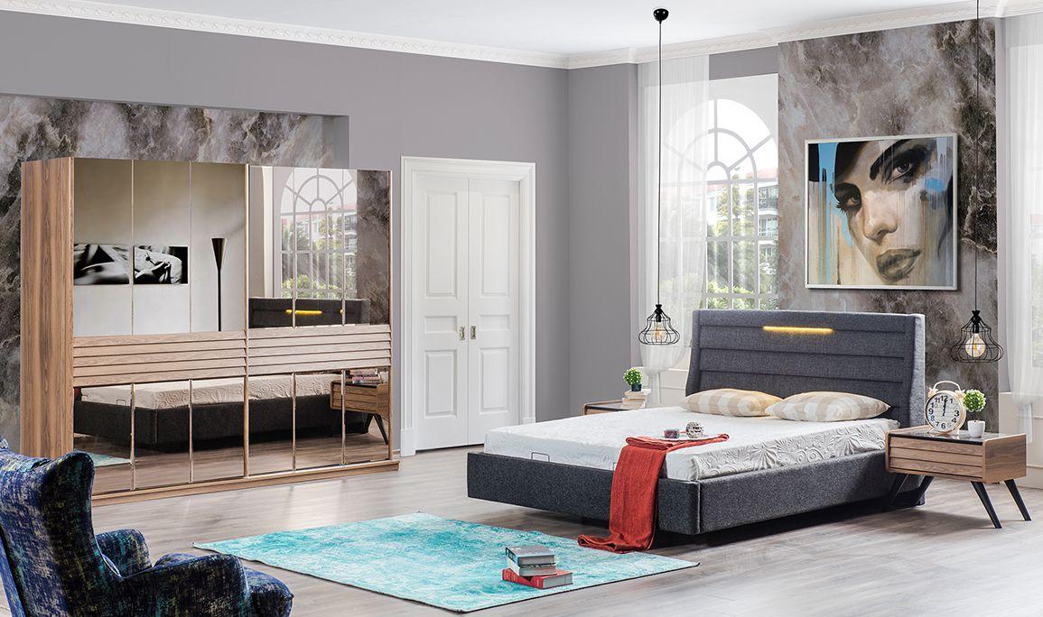 Star Ceviz Yatak Odası