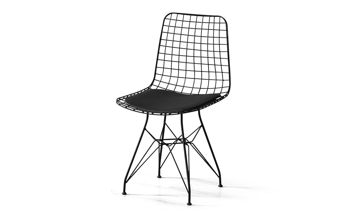 Telli Siyah Sandalye
