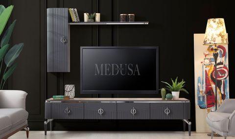 Medusa Home - Travis Antrasit Ceviz Tv Ünitesi