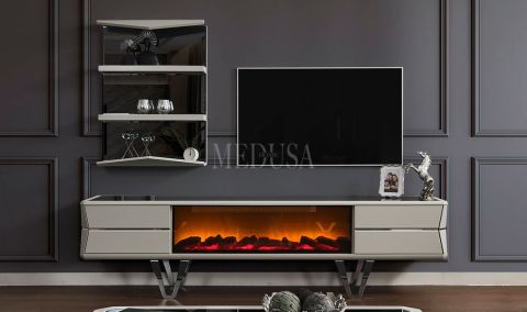 Medusa Home - Velar Tv Ünitesi Şömineli