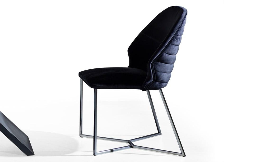 Yaprak Antrasit Luxury Sandalye