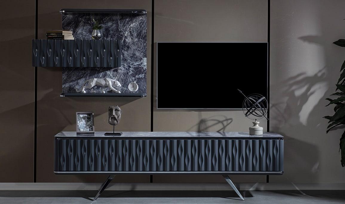 Yaprak Antrasit Luxury Tv Ünitesi